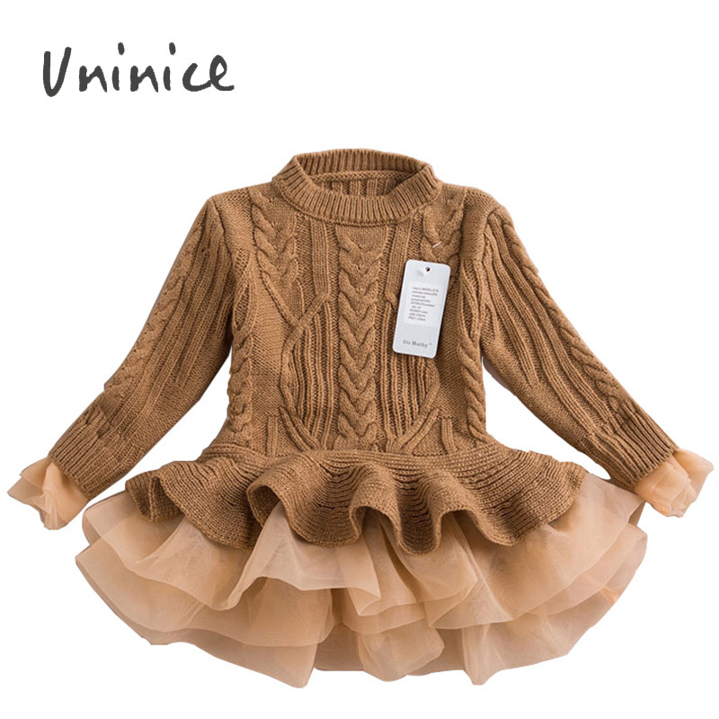 Knitted Sweater Dress Pullovers Sweaters With Lace Shrugs Dresses Crochet Long grils sweater 2015 Autumn Winter