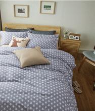 Gray Blue een gr Star blue Twin Full Queen King size 3/4pcs bedding set Home Textile sheet/quilt cover duvet cover/pillowcase (China (Mainland))