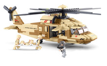 Sluban UH-6OL Military Series Black Hawk Helicopters Building Blocks Fighter Bricks Toys Gift Compatible With Legoe