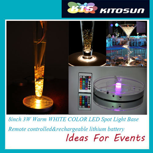 Здесь можно купить  Free Shipping Factory  8inch round Remote Control RGB LED Light Base,LED White Light Base Wedding CenterpieceVase Floral Decor  Дом и Сад