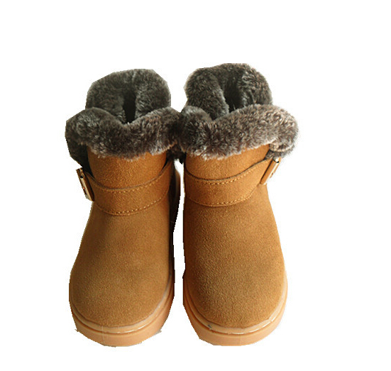 Hot 2016 children boots boys girls snow boots fashion high quality leather girls boots kids warm winter boots girls boys shoes<br><br>Aliexpress