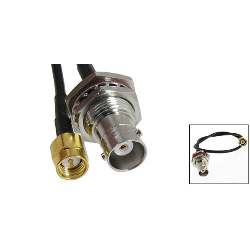 """SZS Hot SMA Male to BNC Female Plug Adapter Antenna Pigtail Cable 13""""(China (Mainland))"""