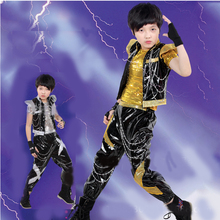 Kids Children Hip Hop Clothing Set Jazz Hip-hop Drum Dance Costume Boy Fashion Korean Modern Hip Hop Shirt Jacket Pants Clothing