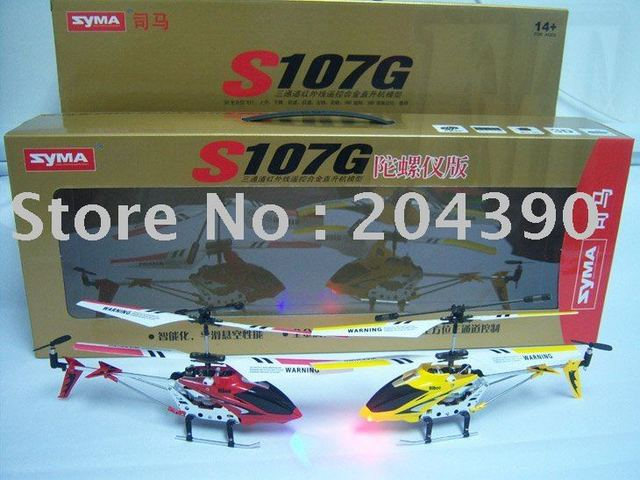 Free shipping SYMA S107 S107G RTF 3CH Rc Helicopter ,With GYRO & Aluminum Fuselage + support