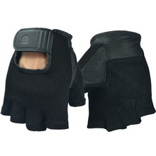 US Men's leather gloves extended wrist protection palm fitness bodybuilding weight training gloves wholesale inventories