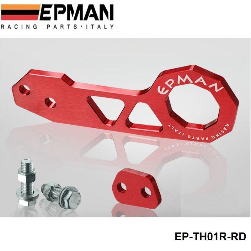 Epman заготовка алюминия задний буксирный крюк красный универсальный автомобилей , такие как для горизонт 200SX R33 S13 S14 EP-TH01R-RD ( по умолчанию цвет красный )