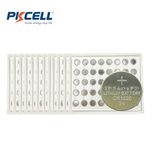 Buy 200 X PKCELL CR1220 3V Lithium Button Coin Cell Batteries DL1220 LM1220 ECR1220 CR 1220 Battery for $18.84 in AliExpress store