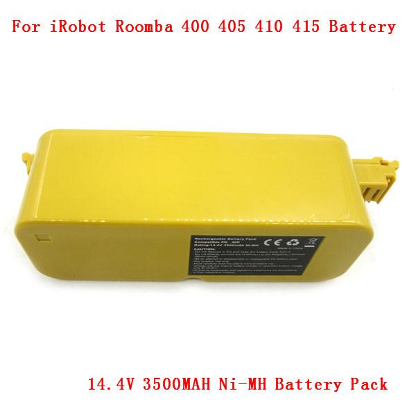 Battery Pack for iRobot Roomba 400 405 410 415 Series 14.4V 3500MAH Ni-mh battery Free shipping(China (Mainland))