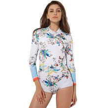 Perimedes السيدات ملابس الغوص طفح الحرس طويلة الأكمام البريدي الأشعة فوق البنفسجية حماية تصفح ملابس السباحة الإناث ثوب السباحة # g50(China)