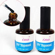 2x UV Topcoat Nail Art Gel Top Coat Polish UV Gel Gloss