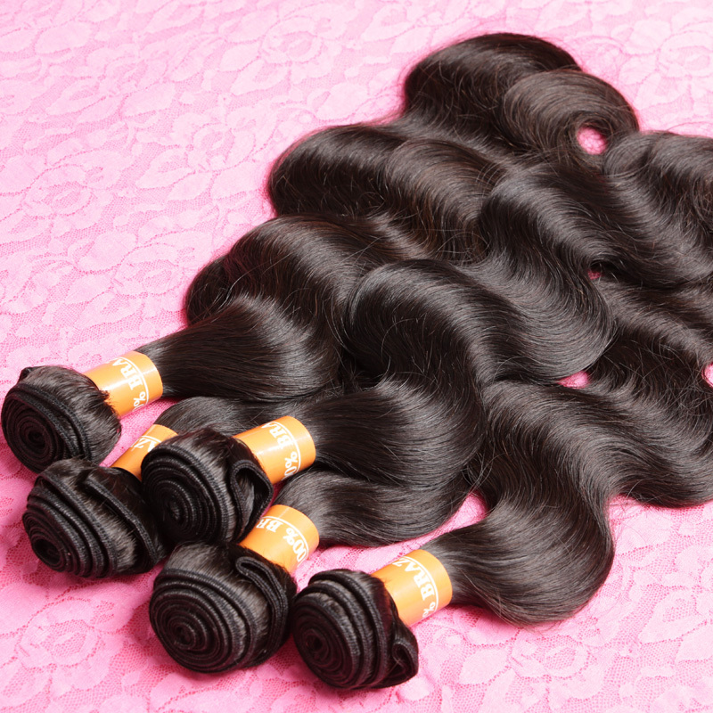 Grace Hair Products 7A Grade Unprocessed Virgin Hair Brazilian Virgin Hair Body Wave 4Pcs Lot Top Hair Extensions(China (Mainland))