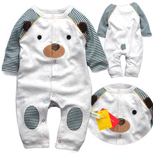 2015 new long sleeve baby rompers top quality jumpsuit newborn baby clothing for 3 12M bebe