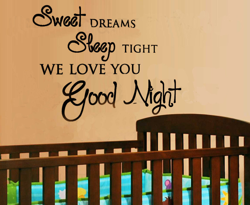 Sweet Dreams Sleep Tight Baby care Art Vinyl DIY wall sticker decal decor quo...