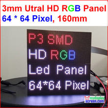 2 in 1 3mm RGB led panel,high resolution, 64x64,192mm * 192mm,black leds,smd full color 1/32s indoor p3 led display panel(China (Mainland))