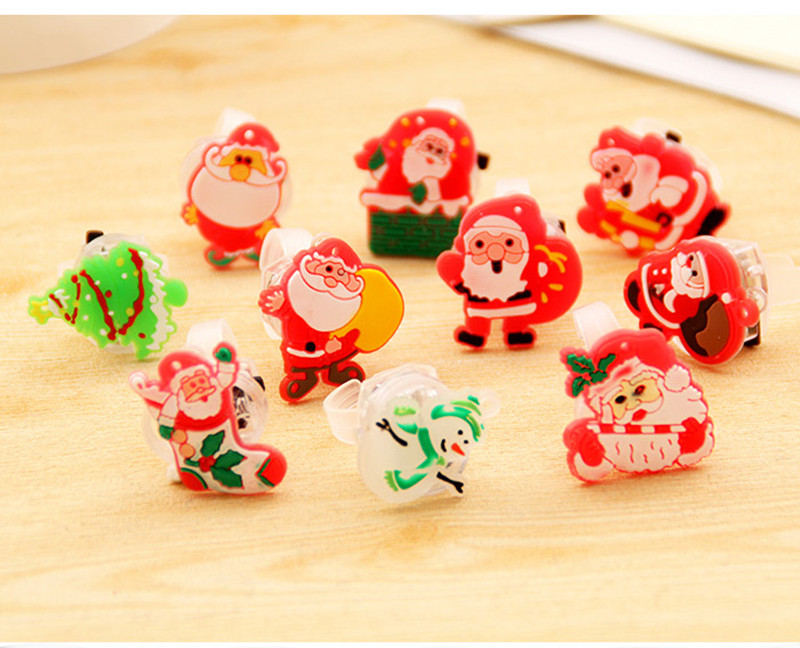 Pcs lot led party supplies cartoon finger ring flashing