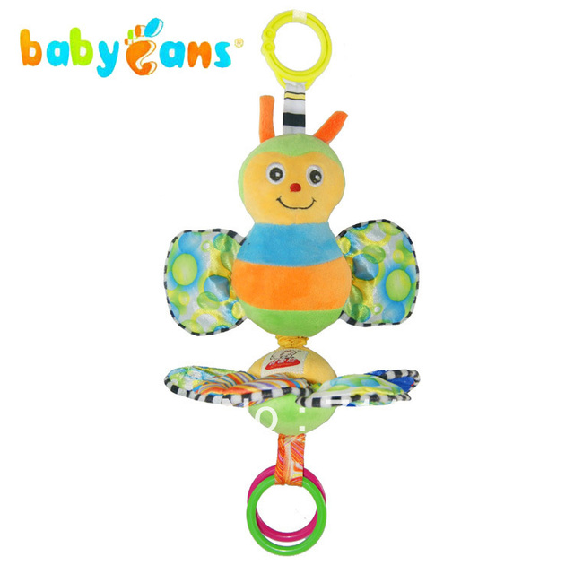 pull music baby toys bees car hanging bed toys ringing of paper