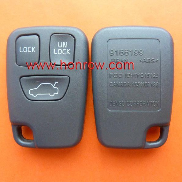 For Volvo 3 button remote key blank