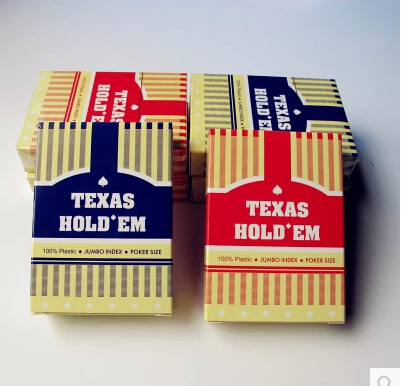 Free Shipping Authentic Texas Poker Upscale Office Supplies Waterproof PVC Plastic Poker Cards(China (Mainland))