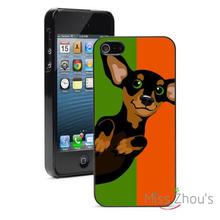 Orange Green Dachshund Painting back skins mobile cellphone cases for iphone 4/4s 5/5s 5c SE 6/6s plus ipod touch 4/5/6