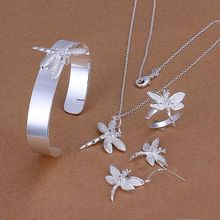 S276 925 Scorching Promoting silver jewellery set, vogue jewellery set Inlaid Dragonfly Drop  S276 /aohajfoa azzajrga