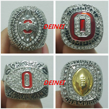 All 4 PCS rings Ohio State Buckeyes National College Football Championship rings, US Size 11 with jewelry case,Fan gift(China (Mainland))