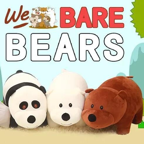1pcs 40*20cm We Bare bears Cartoon Bear , grizzly bear panda stuffed plush toy doll, doll birthday gift,kids toy(China (Mainland))