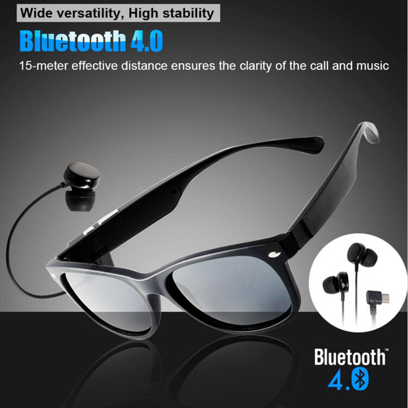 Wireless Bluetooth Sunglasses Earphone Polarized Sports Voice Control Music Smar