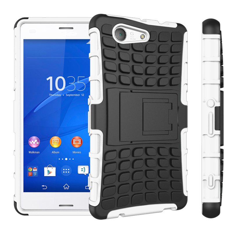 Coque For Sony Z3 Compact Cover Silicone Plastic Shell Holder Stand Case For Sony Xperia Z3