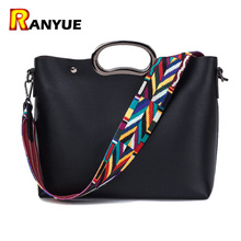 Buy Fashion Colorful Strap Ladies Bag Women Shoulder Bags Famous Brand Designer Handbags High Quality Pu Leather Bags Women Handbag for $20.39 in AliExpress store