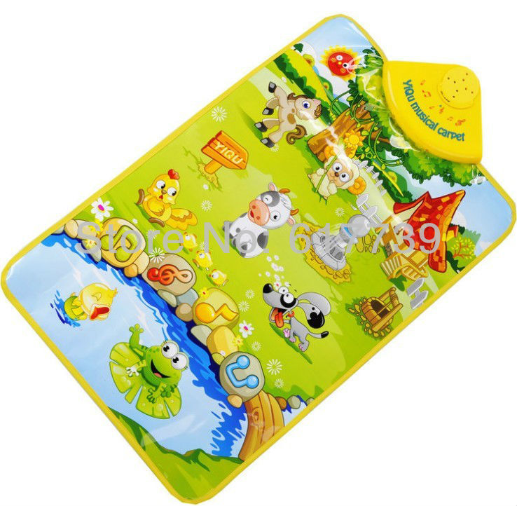 Kids Baby Farm Animal Musical Music Touch Play Singing Gym Carpet Mat Toy(China (Mainland))