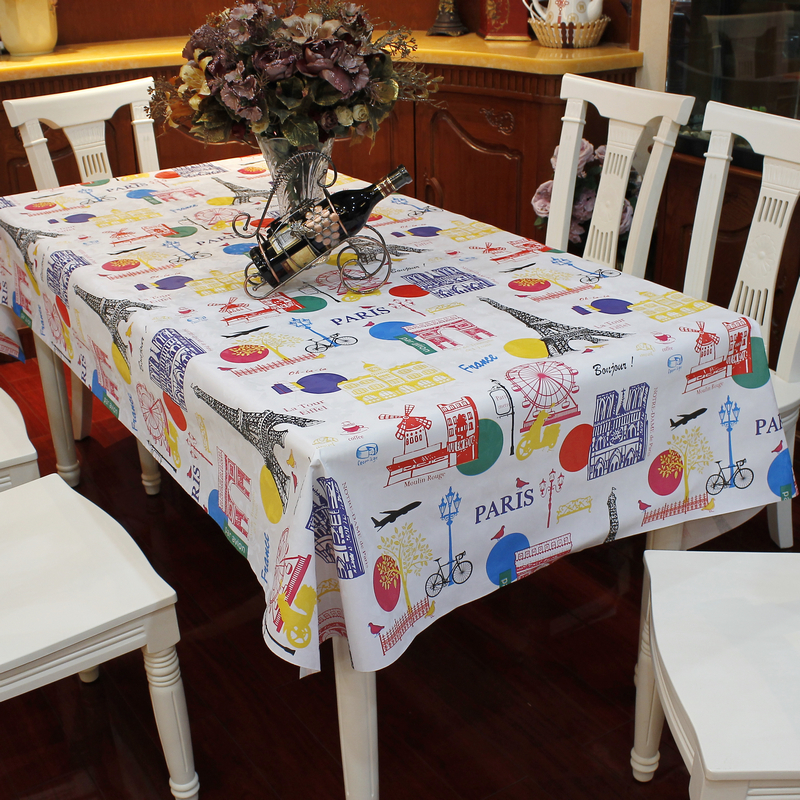 multi-size waterproof PVC tablecloth Paris pattern home kitchen table cover picnic mat HB107(China (Mainland))