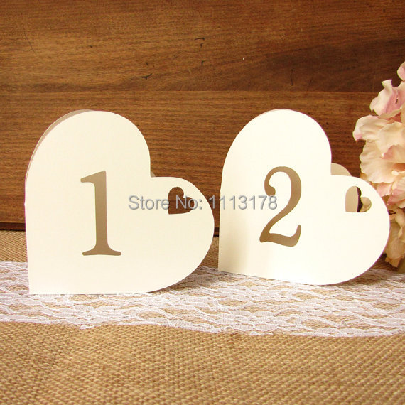 Heart Table numbers Romantic Valentines day wedding Baptism Decoration, Romantic Event Favor, Baby Shower, Cutout, Scrapbook,(China (Mainland))