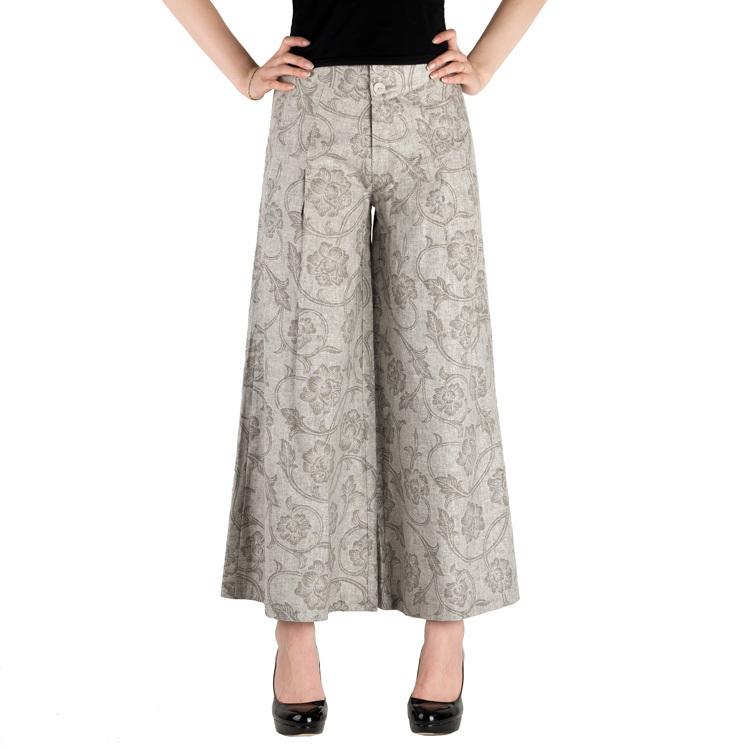 Elegant  Fisherman Pants  Black Womens Wrap WideLegged Pants Palazzo Pants