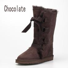 Factory Outlet envío gratis piel de oveja australiana una botas de nieve caliente botas altas zapatos de cuero venta al por mayor(China (Mainland))