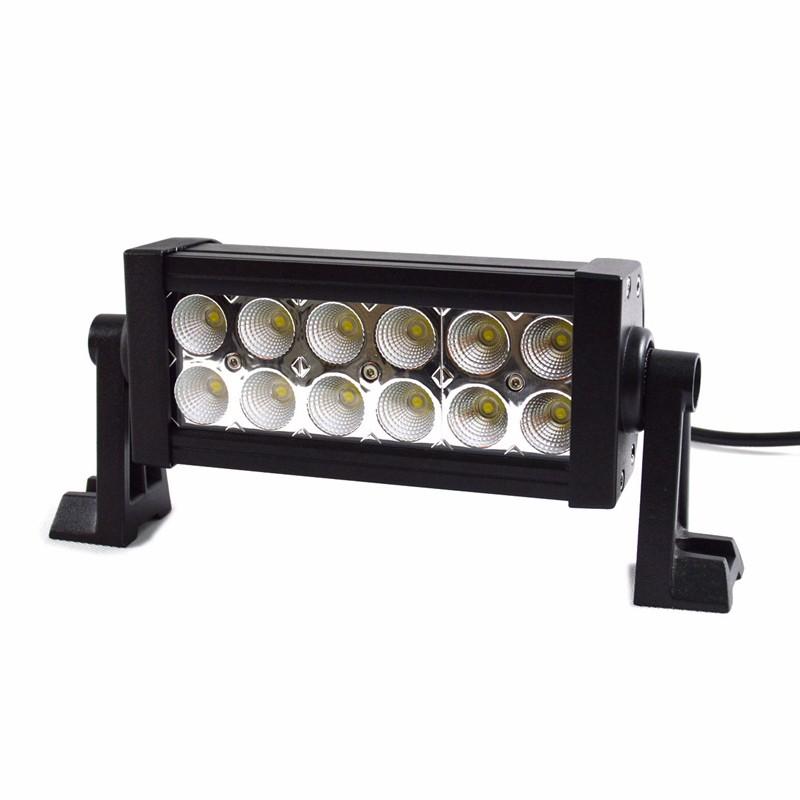 Купить Бесплатная доставка 36 Вт 7 дюймов LED Work Light Bar 12X3 Вт светодиодный чип Наводнение Пятно света Spotlight Offroad Свет Бар Подходит ATV открытый свет