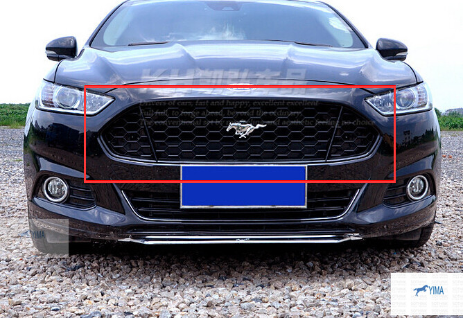 Black! Honeycomb Mustang Style Front Grille Grill 1pcs For ford Fusion 2013 2014 2015(China (Mainland))