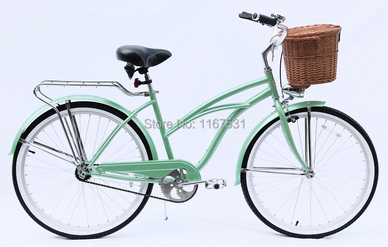 Cruiser Bikes With Baskets Lady beach cruiser bike woman