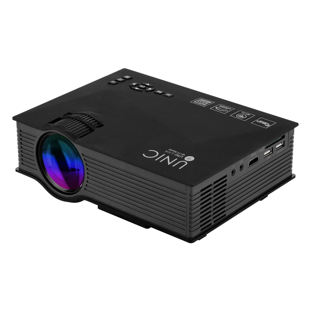 UNIC UC46 Mini Portable Projector Full HD 1080P Support Red-Blue 3D Effect with WIFI Connection With Free HDMI Cable(China (Mainland))