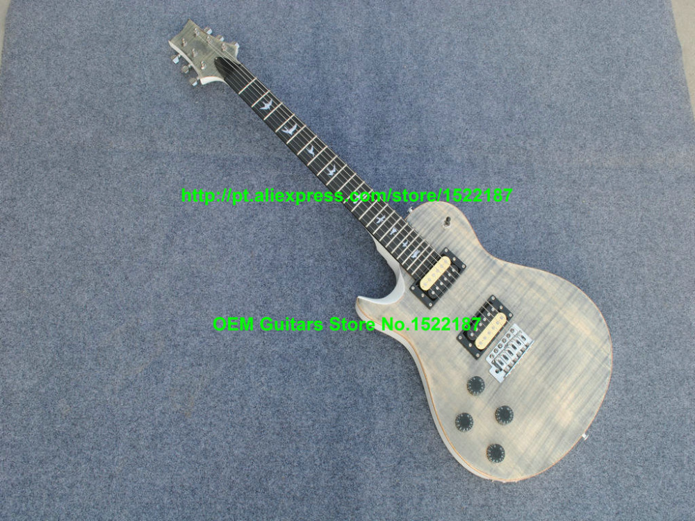 Custom Shop Left Handed Guitar Custom 22 Guitar w/ Bird gray Electric Guitar With tremolo system Chinese guitars Free shipping(China (Mainland))