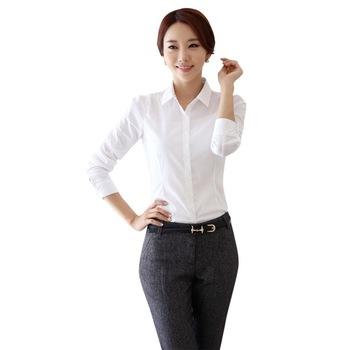 New Korea Women Lady Turn-down Lapel Collar Cool Short Sleeve Tops Blouse Shirt Work Wear Formal Shirts