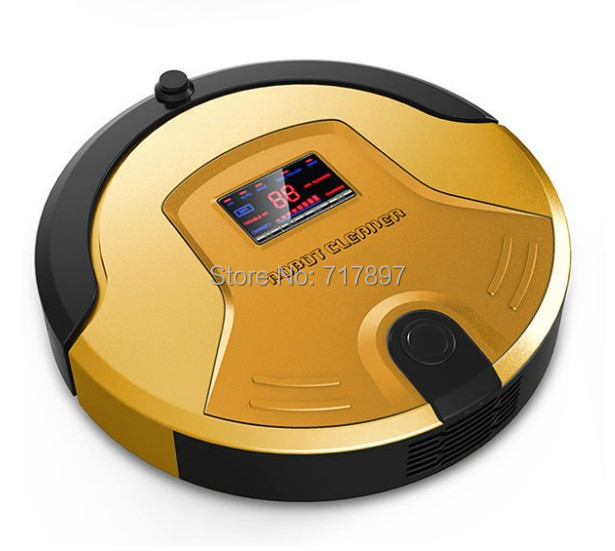 Free Shipping Intelligent Robot Vacuum Cleaner +Touch Screen+Schedule+Virtual Wall+Auto Charge+UV Sterilize Remote Control(China (Mainland))