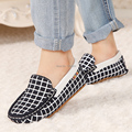 New 2015 Hot Sell Fashion Comfortable Children Cow Suede Boat Girls Baby Boys Shoes Grid Printing