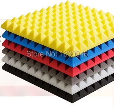 New High Quality Soundproof foam/acoustic Pyramid foam acoustic panel studio foam Fast EMS Free shipping 20pcs size 50*50*5cm<br><br>Aliexpress