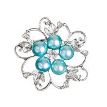 Forma di fiore Brillante Bella CZ branelli della sfera del rhinestone Brooch Bouquet per le donne di nozze perni ci vestiamo accessori(China)