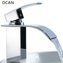 Buy DCAN Bathroom Sink Faucets Waterfall Sink Faucet Chrome Single Handle Single Hole Hot & Cold Mixer Taps Widespread Basin Faucets for $69.36 in AliExpress store