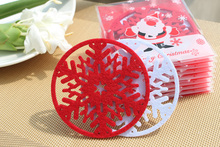 100pcs/Lot Christmas Decoration Coffee/Cup Coaster/Tea Mat & pads(China (Mainland))