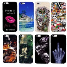 Buy Hot Slim Rubber Back Cover Silicon Gel Cover Fundas iPhone 5G 5S 6 6S Plus Cartoon Phone Cases Protective Case iPhone SE for $1.49 in AliExpress store