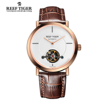 Reef Tiger/RT Watches New Business Tourbillon Mechanical Watches For Mens Automatic Luxury Brand Rose Gold Watches RGA1610
