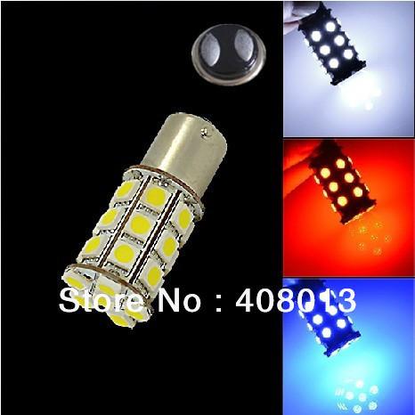 New car led light bulb 1157 BAY15D 5050 27 SMD 5W Brake Parking Tail backup light bulb Lamp White/Blue/Red