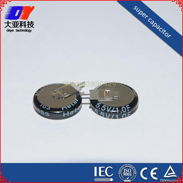 FREE SHIPPING 10pcs 1.0F 1 Farad 1F 5.5V Super Capacitor 5.5 V 1F HOHO(China (Mainland))